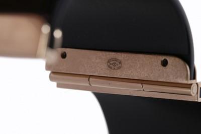 Lot 11-A Chanel black resin cuff bracelet, 'Coco Rock'...