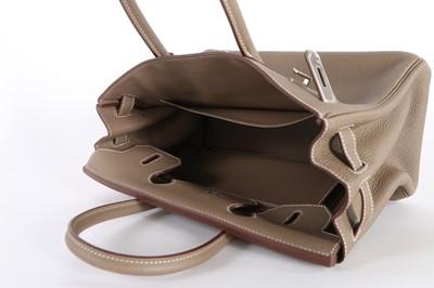 Lot 55-An Hermès étoupe togo leather Birkin 30, 2016,...