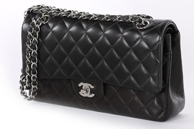 Lot 1 - A Chanel quilted lambskin leather classic flap...