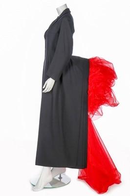 Lot 199-A fine and rare Yohji Yamamoto bustle coat,...