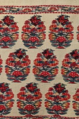 Lot 428 - An early woven shawl, Kashmir, 1790-1800, soft...
