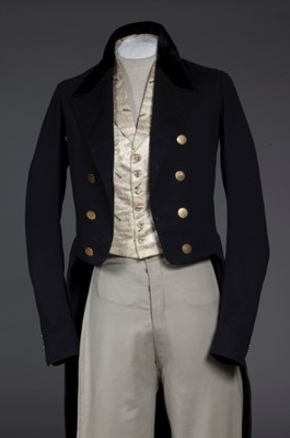 Lot 51-A rare gentleman's day ensemble, early 1850s,...