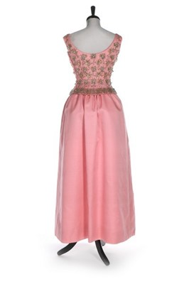 Lot 90 - A fine Givenchy couture pink shantung silk...