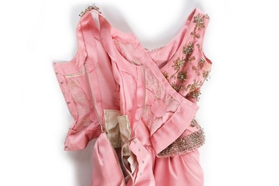 Lot 90-A fine Givenchy couture pink shantung silk...