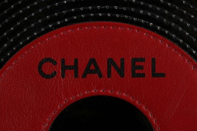 Lot 1 - A Chanel patent leather 'vinyl record' bag,...