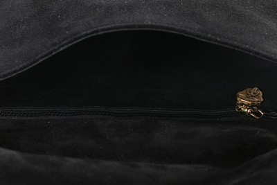Lot 4 - A Gucci black suede 'Blondie' shoulder bag,...