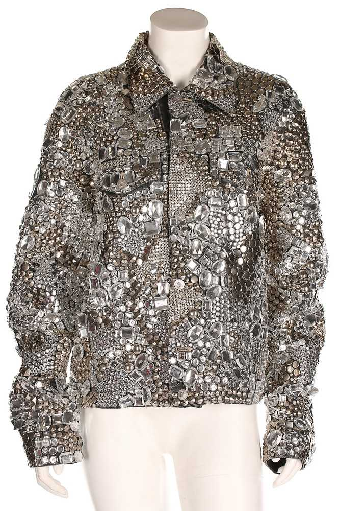 Lot 324 - A Versace Jeans Couture rhinestone encrusted...