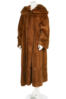 Lot 23-Three de Carlis knitted mink coats/cardigans, 1990s-2000s