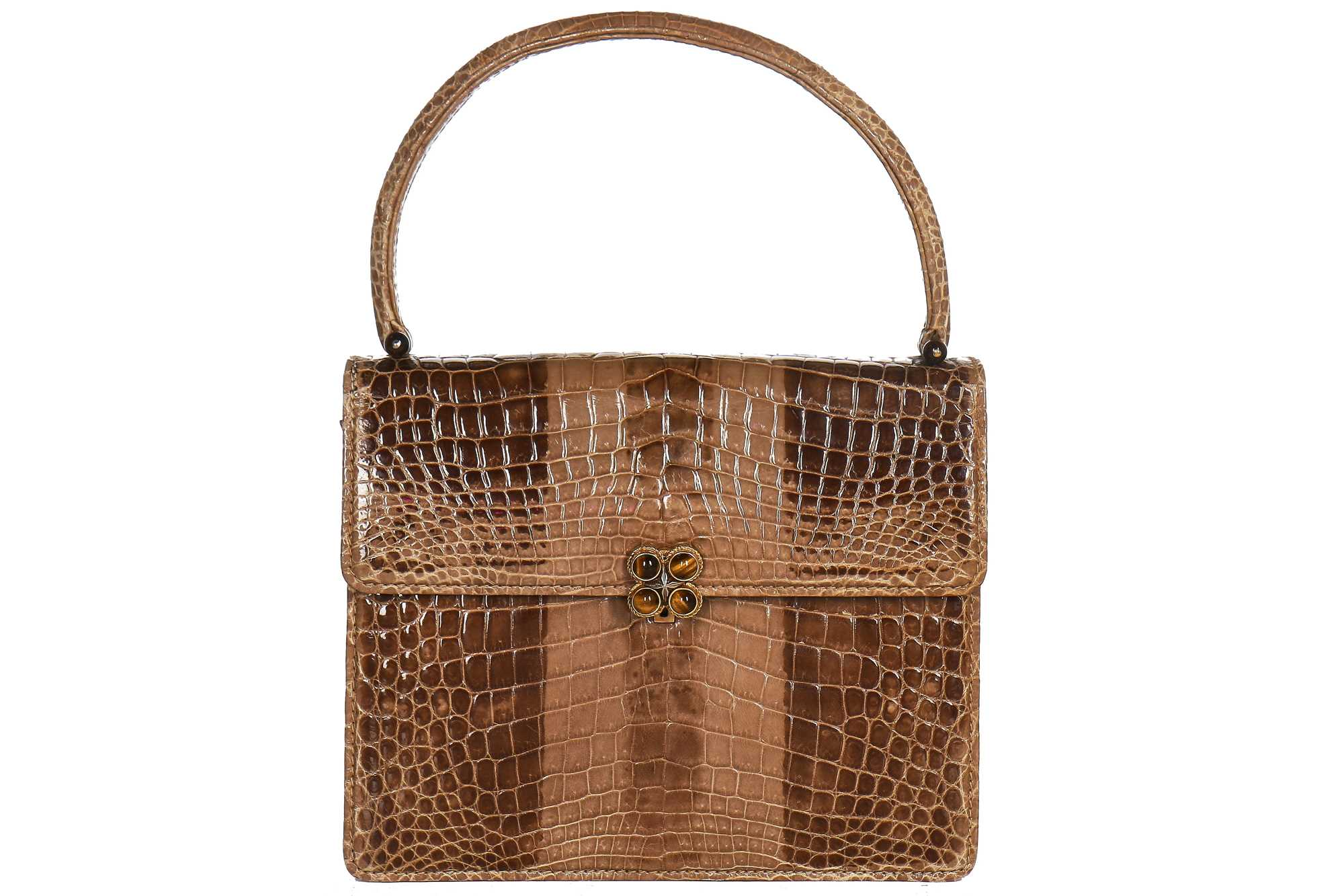 Lot 9 - A Gucci crocodile handbag, 1960s