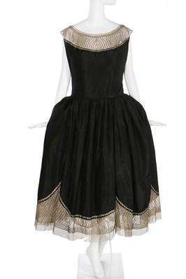 Lot 67-A Jeanne Lanvin couture black taffeta robe de style, Summer 1925