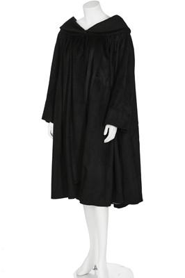Lot 95-A Balenciaga black cashmere evening coat, Autumn-Winter 1951