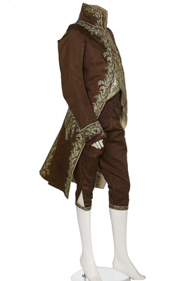 Lot 33-A good gentleman's court dress, French, circa 1800