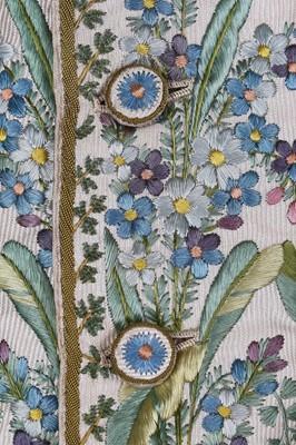 Lot 33-A good gentleman's court dress, French, circa 1800