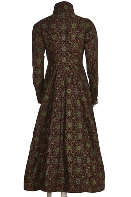 Lot 42 - A fine gentleman's woven wool banyan or nightgown, late 1830s -early 1840s