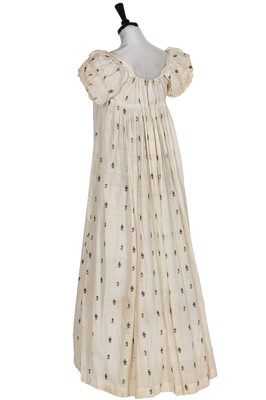 Lot 35-An Indian embroidered muslin gown, circa 1805