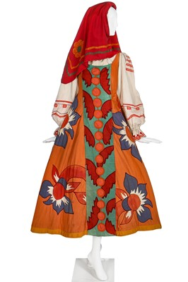 Lot 52-Diaghilev's Ballets Russes 'Le Coq d'Or' costume for a female subject of King Dodon