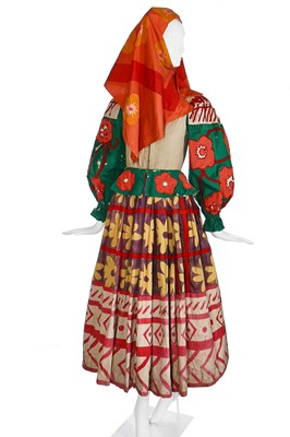 Lot 53-Diaghilev's Ballets Russes 'Le Coq d'Or' costume for a female subject of King Dodon