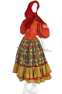 Lot 54-Diaghilev's Ballets Russes 'Le Coq d'Or' costume for a female subject of King Dodon