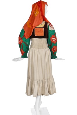 Lot 55-Diaghilev's Ballets Russes 'Le Coq d'Or' costume elements for a female subject of King Dodon
