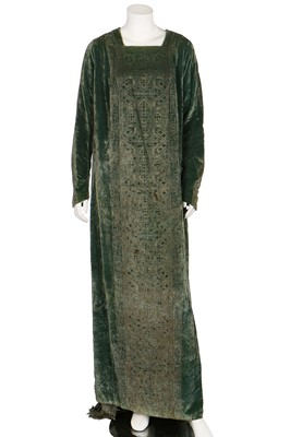 Lot 66-A Mariano Fortuny stencilled velvet tabard dress, circa 1920