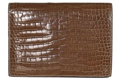 Lot 6 - A J.P Renard tri-colour crocodile clutch, early 1970s