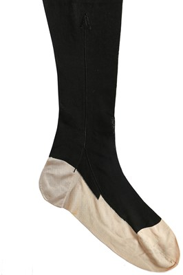 Lot 47 - A fine pair of Queen Victoria's silk stockings, late 19th century