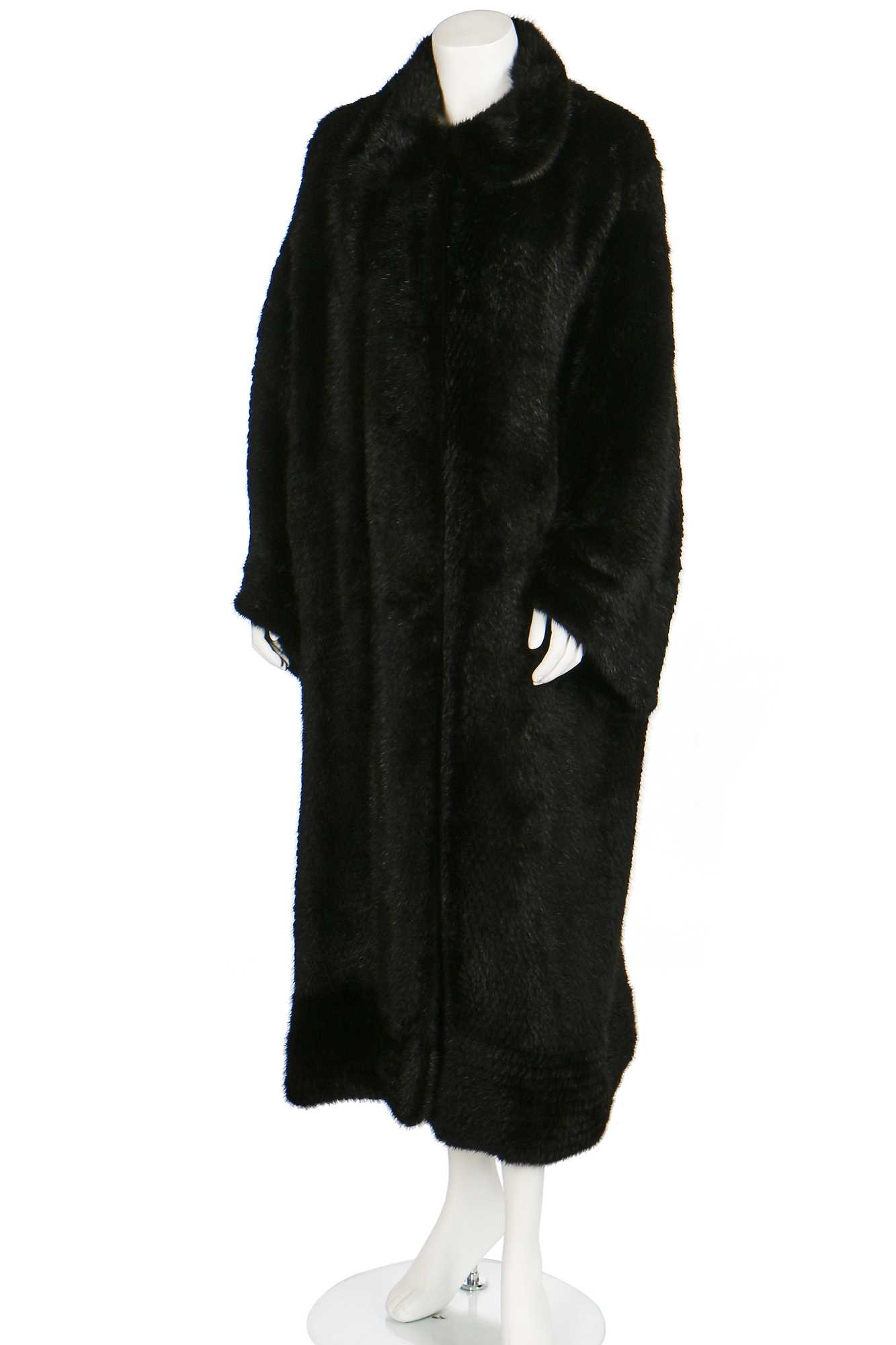 Lot 22-A Christian Dior knitted black mink coat, 1990s