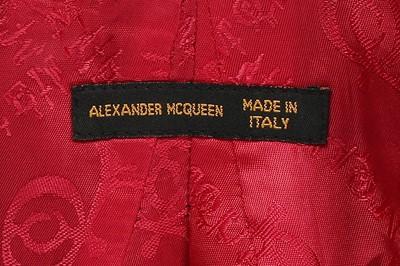 Lot 12-Alexander McQueen fitted, bias-cut grey wool jacket, 'Joan', Autumn-Winter 1998-99
