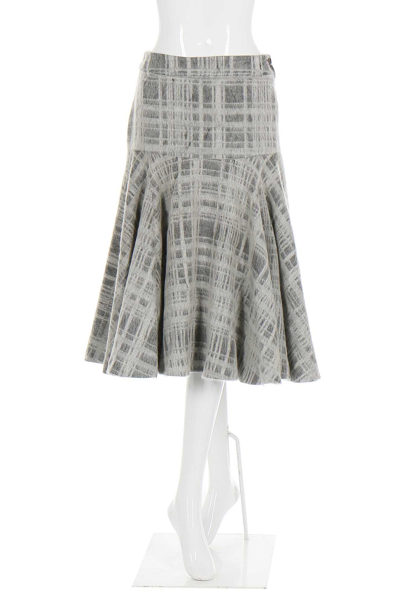 Lot 13-Alexander McQueen grey plaid mohair 'skating' skirt, 'The Overlook', Autumn-Winter 1999-2000