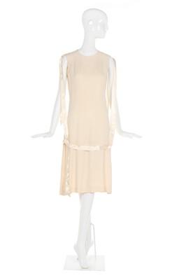 Lot 15-Alexander McQueen ribbon-trimmed ivory crêpe dress, 'Eshu', Autumn-Winter 2000-01