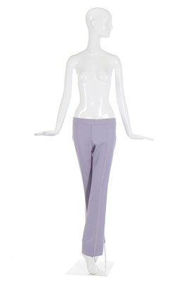 Lot 2-Alexander McQueen pair of lilac wool Bumsters, 'Highland Rape' collection, Autumn-Winter 1995-96