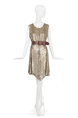 Lot 22-Alexander McQueen gold sequin dress, 'Irere', Spring-Summer 2003