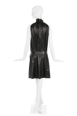 Lot 24-Alexander McQueen soft black kid leather dress, 'Irere', Spring-Summer 2003
