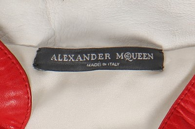 Lot 26-Alexander McQueen panelled white leather jacket, 'Scanners', Autumn-Winter 2003-04