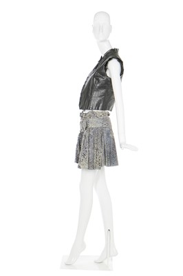 Lot 27-Alexander McQueen leather and suede ensemble, 'Irere', Spring-Summer 2003