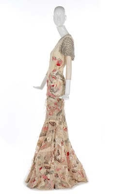 Lot 30-Alexander McQueen patchworked evening dress, 'Deliverance', Spring-Summer 2004