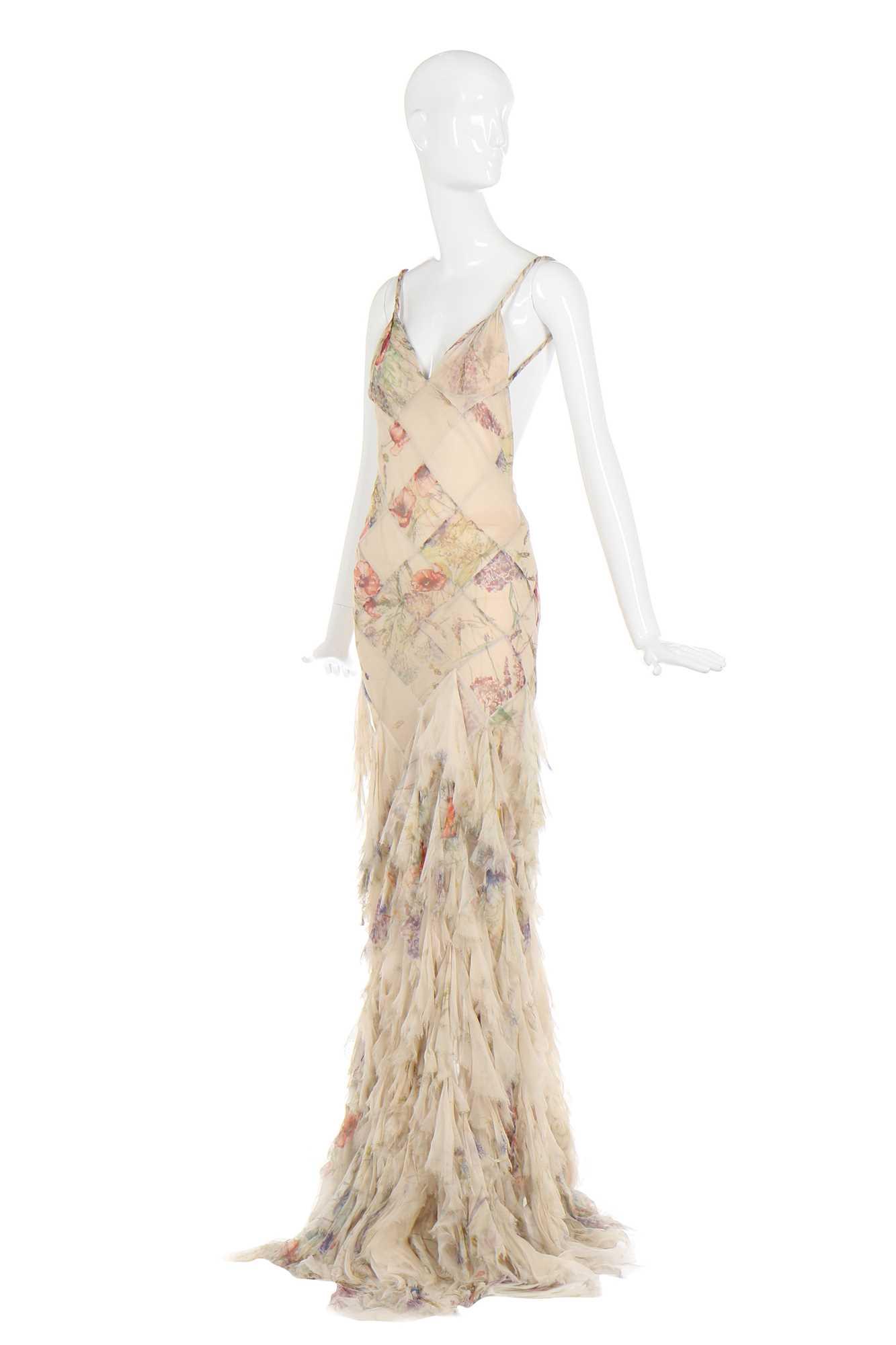 Lot 31-Alexander McQueen bias-cut floral chiffon dress, 'Deliverance', Spring-Summer 2004