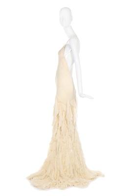 Lot 33-Alexander McQueen bias-cut ivory chiffon evening gown, 'Deliverance', Spring-Summer 2004