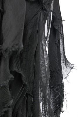 Lot 34-Alexander McQueen bias-cut black chiffon evening gown, 'Deliverance', Spring-Summer 2004