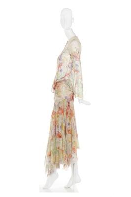 Lot 35-Alexander McQueen bias-cut floral chiffon ensemble, 'Deliverance', Spring-Summer 2004