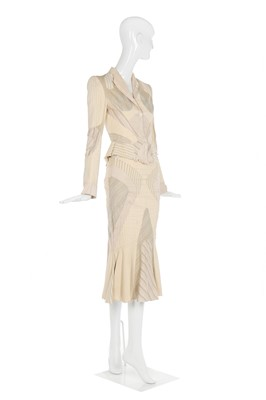 Lot 37-Alexander McQueen patchworked cocktail suit, 'Deliverance', Spring-Summer 2004