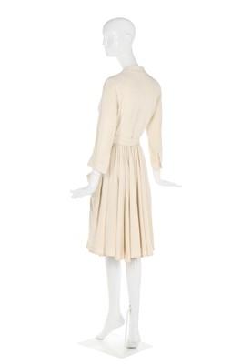 Lot 39-Alexander McQueen ivory silk/cotton dress, Resort 2006