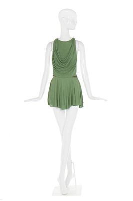 Lot 42-Alexander McQueen draped green jersey cocktail dress, 'Neptune', Spring-Summer 2006