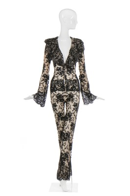Lot 43-Alexander McQueen black lace jumpsuit, 'Widows of Culloden', Autumn-Winter 2006-07