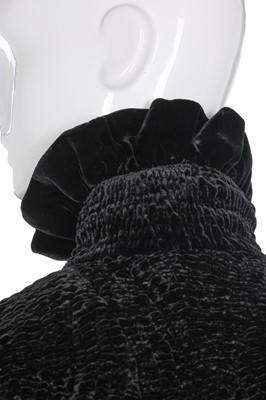 Lot 44-Alexander McQueen shirred black velvet opera coat, 'Widows of Culloden', Autumn-Winter 2006-07