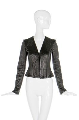 Lot 46-Alexander McQueen leather jacket, 'In Memory of Elizabeth Howe, Salem, 1692', A/W 2007-08