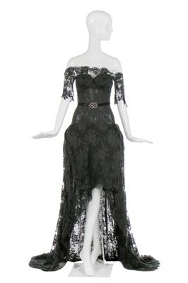 Lot 47-Alexander McQueen black lace 'pannier' evening dress, 'Sarabande', Spring-Summer 2007
