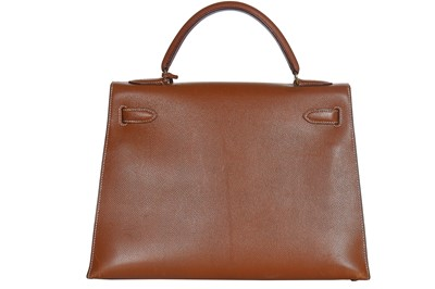 Lot 4-An Hermès gold epsom leather Kelly Sellier 32, 1994