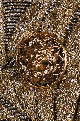 Lot 20-A Chanel couture gold brocatelle cocktail ensemble gold suit, 1962