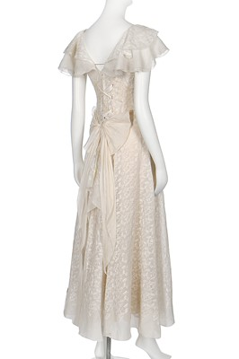 Lot 79-A fine Chanel couture embroidered organdie evening dress, Model '235', Spring-Summer 1933